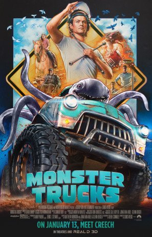 MONSTER TRUCKS – US Imported Movie Wall Poster Print - 30CM X 43CM Brand New