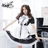 zysymx Costume da Cameriera Costume Cosplay Lolita Uniformi di Prestazione Lingerie Cos Anime Carino Principessa Cameriera Set XL