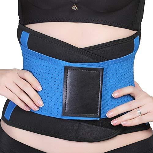 CHENXIAOJUN Rückenstabilisator Männer Frauen Taille Rückenstütze Brace Gürtel Neopren Taille Unterstützung Lendenwirbel Weight Loss Gym Fitness Belt (1 PCS) rückenbandage (Color : Blue, Size : XXL)
