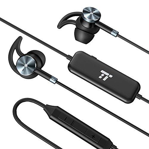 Écouteurs Filaires TaoTronics à Annulation de Bruit Active ( Réduction de bruit, 15 heures de lecture, Fabrication en alliage d'aluminium, Connecteur plaqué or, Commande en ligne, Embouts d'oreille et crochets supplémentaires) TT-EP01 ( Non Compatible avec Moto/LG Série G )