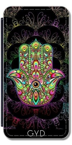 etui-a-rabat-pour-iphone-se-hamsa-amulette-psychedelique-by-bluedarkart