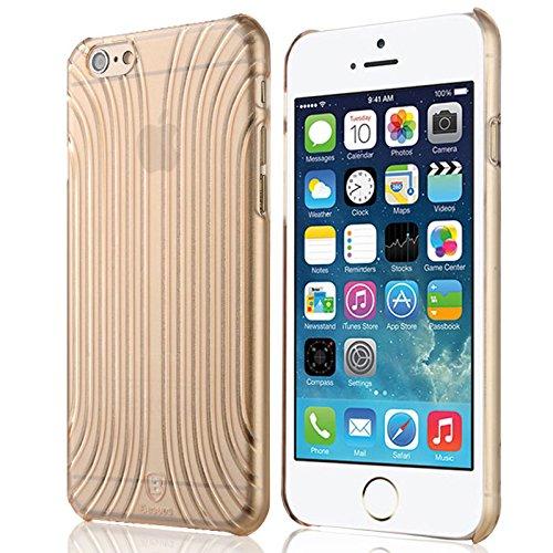 Baseus Premium Transparentes Hard-Shell Case / Ultra-Dünn / Slim / Schutzhülle für Apple iPhone 6 & 6S in Transparent Gold Premium Hardshell Case