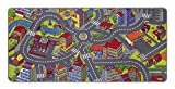 misento Straße Spielteppich Kinderteppich, Polyamid, bunt, 95 x 200 cm