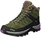 CMP Damen Rigel 3Q12946, Trekking- & Wanderhalbschuhe, Grün (Olive-Hot Pink), 37 EU