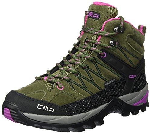 CMP Damen Rigel 3Q12946, Trekking- & Wanderhalbschuhe, Grün (Olive-Hot Pink), 40 EU