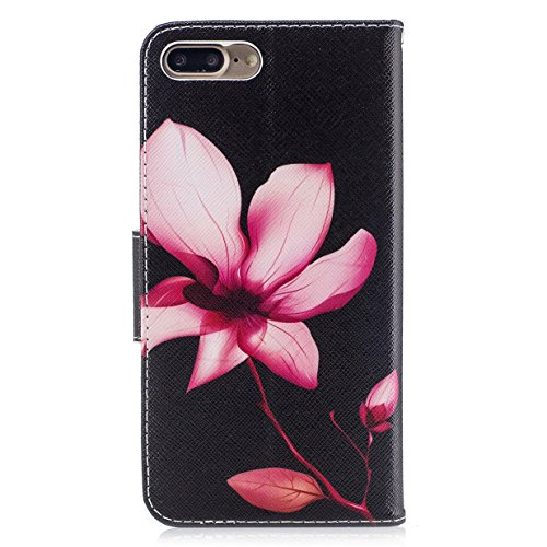 iphone 7 Plus Hülle iphone 7 Plus Case WYSTORE Bunte Muster PU Leder Bookstyle HandyHülle Tasche Flip Wallet Case Anti-Scratch Shell Cash Pouch ID Card Slot Magnetverschluss Etui Soft Silikon Back Cov A06