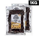 EMBER Biltong Bulk Bag - Beef Jerky - original (1KG) - Britischer und Irischer Jerky. High Protein Biltong Snack - Keine gesunden Zuckersnacks, 2 x 500 g Bulk Bag
