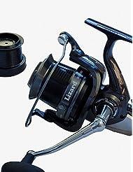 ZQ excelente 14rodamientos de bolas 10000size 4.1: 1Surf carrete de pesca carretes Spinning Pesca Carrete de rollos mar Metal Exchangable