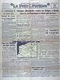 PETIT PARISIEN (LE) [No 23099] du 28/05/1940 - L'AMERIQUE NE PEUT PAS FERMER LES YEUX...