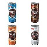 Nescafé Xpress Probierset, Kaffee, Eiskaffe, Milchkaffee, Frappé, 4 x 250 ml Dose