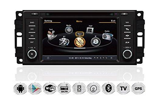CHRYSLER SEBRING ASPEN Autoradio Touchscreen Android Naviceiver CD DVD USB SD WIFI 3D GPS Navigation TV Bluetooth Freisprecheinrichtung (Grand Caravan Dodge Dvd)