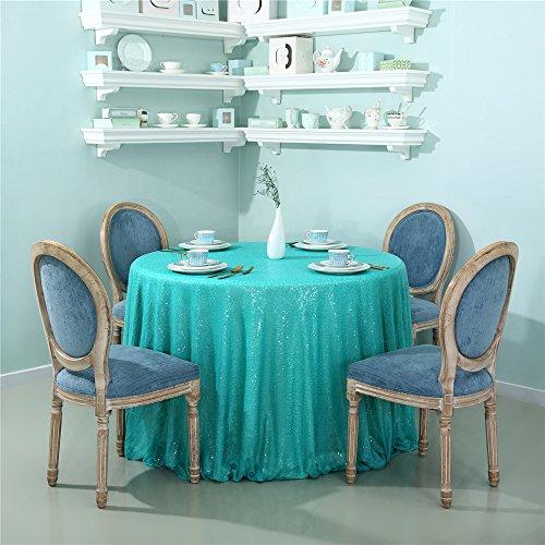 Zdada Pailletten Tischdecke Sparkly Tisch Cover für Party Dekoration 70-inch Tiffany Blue