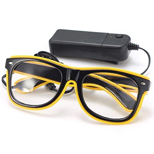 Wooya EL-Wire Neon Führte Lichtblende Geformte Gläser Für -