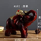 Décoration créative et artisanat pour recruter des éléphants d'argent Décorez une paire de décorations européennes pour le meuble TV et le meuble à vin du salon. Le recrutement est comme un coup de tê