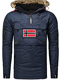 Geographical Norway-Ropa de invierno-Cazadora bronson boy, color azul
