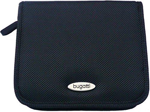 Original Bugatti Schwarz Nylon Weicher Reißverschluss-Case Tasche Hülle Größe Medium Bulk Pack Geeignet Für Samsung Wb30F Smart Digital Camera (Leder Medium Tasche Kamera, Schwarz)