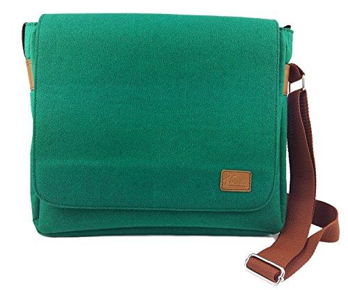 f1a727d5057d8 Venetto Herrentasche Messenger Bag Schultertasche Umhängetasche Handtasche  Herren Filztasche Tasche aus Filz mit EchtlederApplikationen für 13  MacBook