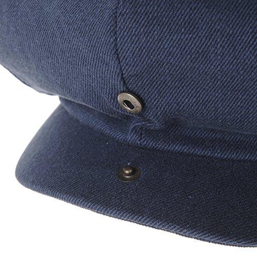 WITHMOONS Béret Casquette Chapeau Cotton Baker Boy Flat Cap Monochrome Beret Ivy Hat LD3602 Bleu