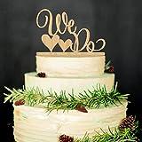 ROSENICE Wedding Cake Topper facciamo legno torta nuziale Decorations(Wood colour)