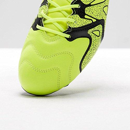 adidas Herren X 15.2 FG/AG Leather Fußballschuhe, Bunt, 40,5 EU Lima / Schwarz