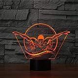 Hlfymx 3D UsbRegalo Nuoto Modellazione Luci Notturne Led Sport Colorato Lampada Da TavoloPulsante SonnoLampadeArredamento