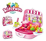 #7: Ultimate Kid Chef's Bring Along Kitchen Cooking New Pink Suitcase Set