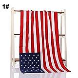 Cutogain groß Flagge Muster bedruckt Baumwolle Badetücher Beach Handtücher für Erwachsene Big Beach, United States