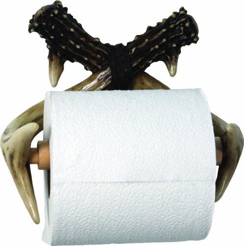 rivers-edge-unique-poly-resin-design-deer-antler-toilet-paper-holder