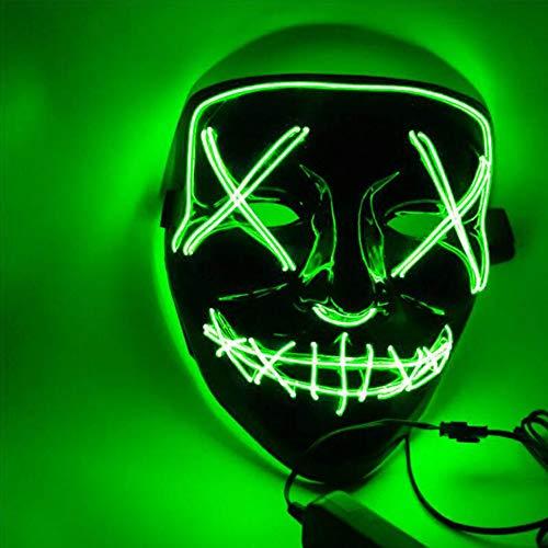 YGCLMASK Halloween LED Masken, Niedliche Lustige Maske Kostüm Maske, Schreckliche Kostüm Für Männer Frauen Halloween Cosplay Karneval Parteien Batterie (Nicht - Niedliche Und Lustige Kostüm