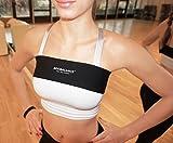 Boobalance verstellbares Brustkompressionsband zur Ergänzung zum Sport-BH/Brustgürtel/Brust Unterstützung Band/Trainieren mit festem Halt für Ihre Brüste in Allen Größen S bis XL (Schwarz, L)
