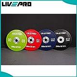 LivePro Disco Peso 25kg PU Poliuretano Urethano plate Bumper Disc IWF Professionale, Black