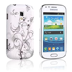 tinxi® Custodia case rigida per Samsung Galaxy S Duos S7562 case cover protettivo concezione speciale con Motivo fiore di diamante artificiale