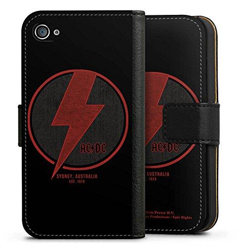 Apple iPhone 7 Silikon Hülle Case Schutzhülle ACDC Sidney Offizielles Lizenzprodukt Sideflip Tasche schwarz