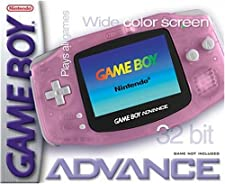 GameBoy Advance - Konsole #Pink-Transp. / Rosa / Clear Red