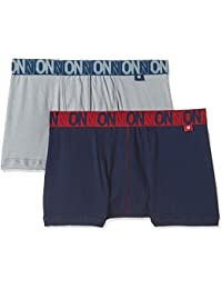 ONN Men's Cotton Boxers (Pack of 2) (Colors May Vary)