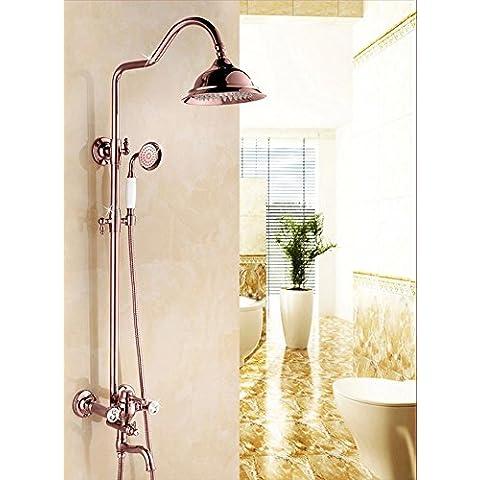 Progetto appalti continentale d'oro doccia bagno acqua calda fredda rame regolabile set doccia , rose gold