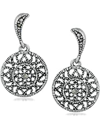 6245f5c39 Mahi Valantine Gift Rhodium Plated Designer Dangler Swarovski Marcasite  Stone Earrings for girls and women ER1197026R