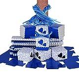 QUMAO (5*5*5cm) 100pz Scatole Portaconfetti di Carta incluso Nastrino Bomboniere Regalo Segnaposti Decorazioni per Festa Matrimonio Battesimo (Blu Scuro)
