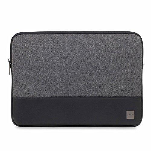 Knomo 43-102-BKG Holborn Notebook Sleeve 38,1 cm (15 Zoll) Polyester Twill schwarz/grau Polyester Tweed