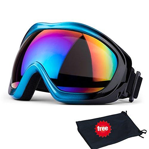 JTENG Skibrille, Ski Snowboard Brille UV-Schutz Skibrille Brillenträger Schneebrille...