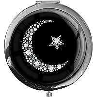 """metALUm - Extragroße Pillendose in runder Form""""Islamischer Mond in Silber"""" preisvergleich bei billige-tabletten.eu"""