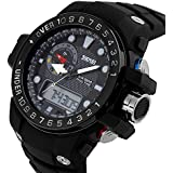 TTLIFE 1063 Mens Women Multifunctional Dual Times Analog-Digital Display Quartz Outdoor Sports Watch Resistant