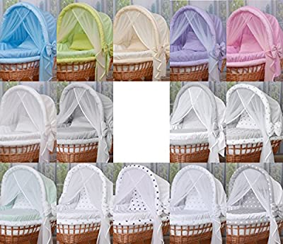 WALDIN Wicker Cradle,Moses Basket, 44 Models Available