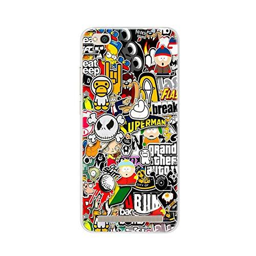 "LIUSHENQING Funda para telefono movil para el Caso de Xiaomi Redmi 5A 5.0""Funda de Silicona Suave para el teléfono Xiomi Xiaomi Redmi 5A A5 5 A Redmi5A Bumper Case Cubierta"