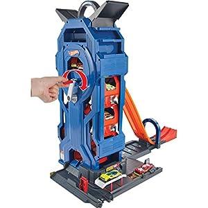 Hot Wheels FTB67 Mega Autolavaggio Playset per Macchinine con Pista Selvaggia e Coccodrillo, Torre dell'Acqua, Vasca del Vortice, Veicolo Cambiacolore 9 spesavip