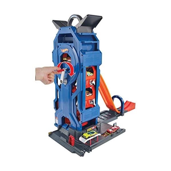 Hot Wheels Mega Autolavaggio Playset per Macchinine con Pista Selvaggia e Coccodrillo, Torre dell'Acqua, Vasca del… 1 spesavip