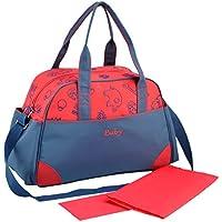 Happy Cherry - Bolsa Maternal Bolso de Pañales Cambiadores - 42*16*29 cm - Bolso Bandolera Estampado de Moda Multifuncional con Gran Capacidad Múltiples Bolsillos - Rojo Azul