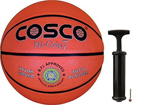 Cosco Hi-Grip Basketball with Hand Pump- Size 7  available at amazon for Rs.840