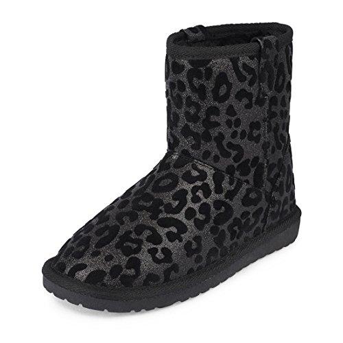 Schwarz Groesse 0 US/ (Black Sparkle Boots)