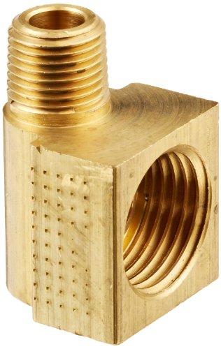 Eaton Weatherhead 402X6X2 Brass CA360 Inverted Flare Brass Fitting, 90 Degree Elbow, 1/8 NPT Male x 3/8 Tube OD by Weatherhead -